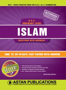 G C E  Ordinary Level Sri lanka - Islam (English Medium