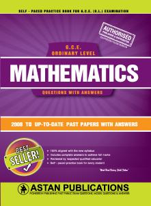 G C E  Ordinary Level Sri lanka - Mathematics (English